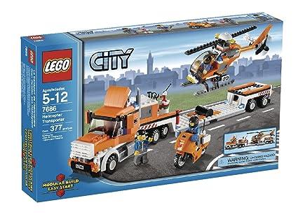 Amazon Lego City Helicopter Transporter 7686 Toys Games