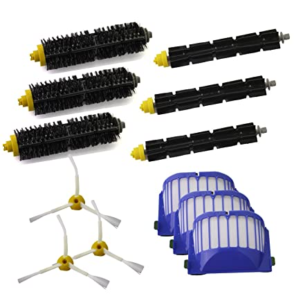 Home Appliance Parts Home Appliances Just Bristle Flexible Beater Brush 3-armed Brush Aero Vac Filters Kit For Irobot Roomba 600 Series 620 630 650 660 Robot Vacuum Parts