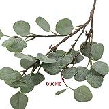 Supla 3 Pcs Artificial Silver Dollar Eucalyptus
