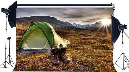 BuEnn Summer Camp Backdrop 9X6FT Vinyl Tent Backdrops Nature ...
