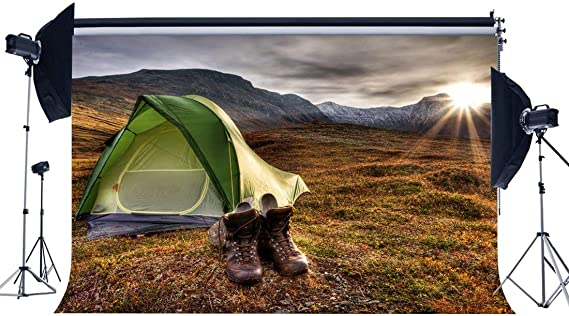 BuEnn Summer Camp Backdrop 9X6FT Vinyl Tent Backdrops ...