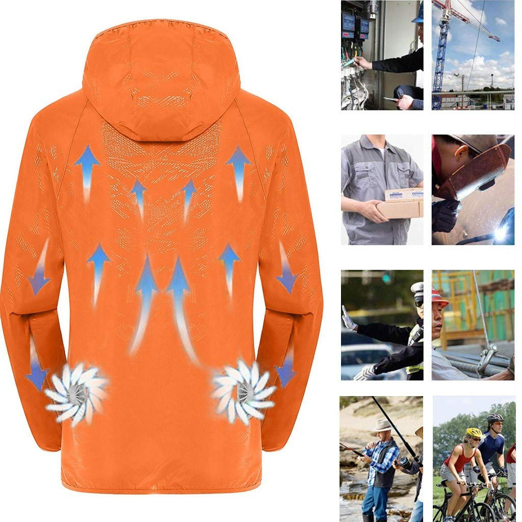 Qisc Summer Workwear Cooling Jacket Fan with Battery Pack for Outdoors Air-Conditioned Clothes