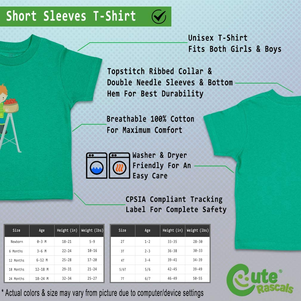 Custom Baby /& Toddler T-Shirt Apple Fun Boy Red Cotton Boy Girl Clothes