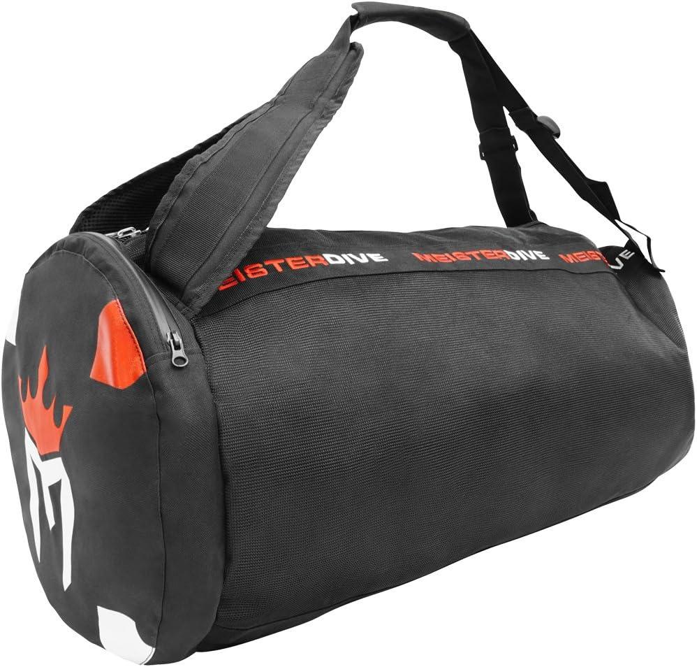 Meister Mesh Duffel Backpack Dive Bag w/Dry Pocket for Scuba & Snorkeling - Black : Clothing
