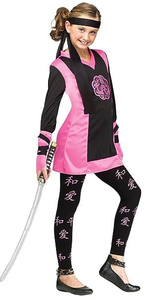 Amazon.com: Girls - Dragon Ninja Child Costume 4-6 Halloween ...