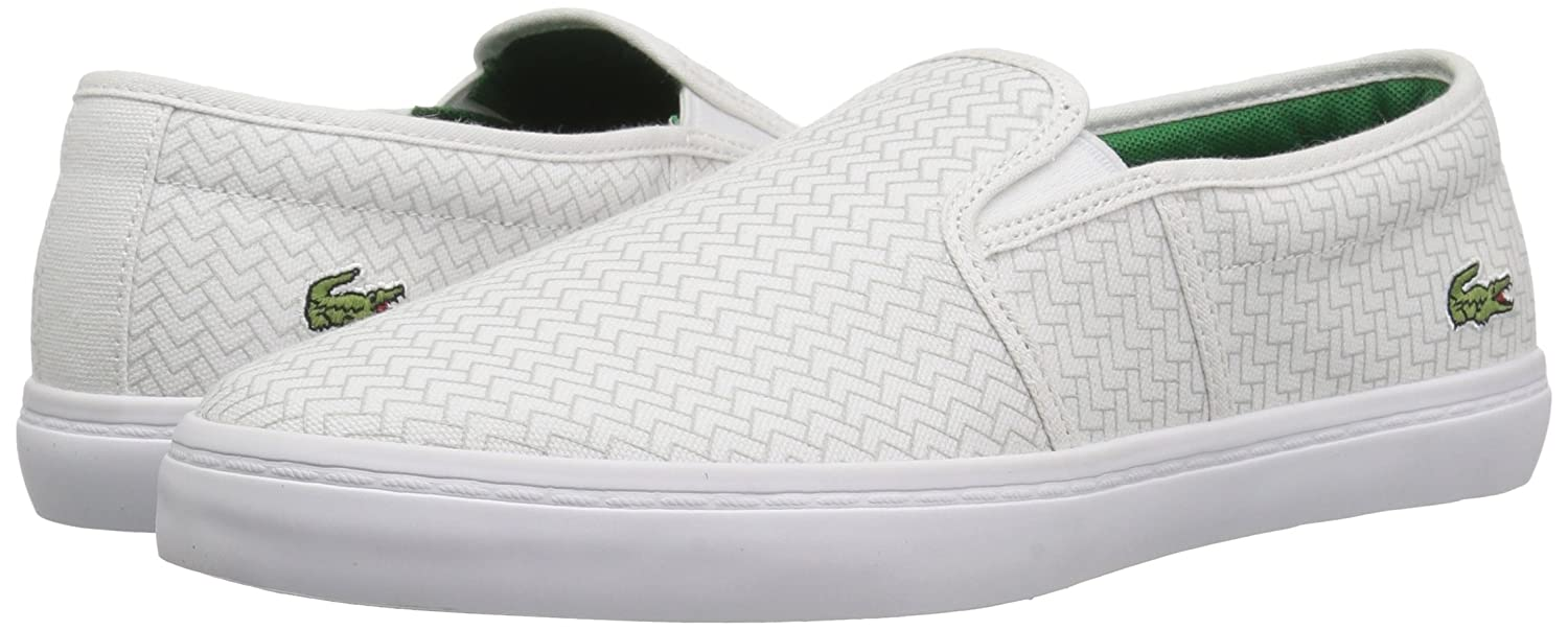 Lacoste Women's 6 Gazon Sneaker B077YB7FXG 6 Women's B(M) US|White Canvas fcc349