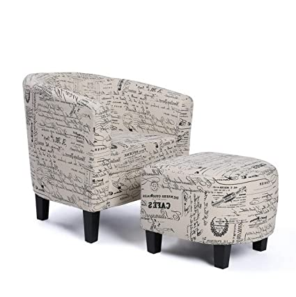 Amazing Amazon Com Hebel Accent Chair W Ottoman Round Arms Curved Ibusinesslaw Wood Chair Design Ideas Ibusinesslaworg