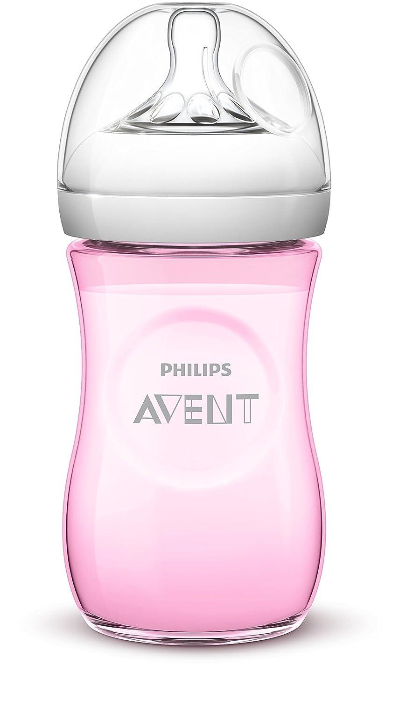 Philips Avent SCF644/18 - Biberón, tetina suave y flexible, anticólicos, PP 0% BPA, 260 ml, color rosa