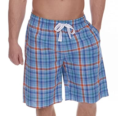 1cccf549e2a Cargo Bay Mens Lounge Shorts Yarn Dyed Checked Woven Lounge WEAR Pyjama  Shorts  Amazon.co.uk  Clothing