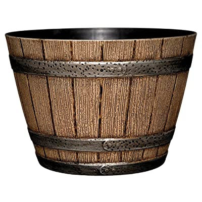 Whiskey Barrel Planter Distressed Oak 9'' And Durable High Density Construction - Skroutz Deals : Garden & Outdoor
