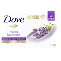 Dove Relaxing Beauty Bar for dry skin Lavender 106 g 4 count