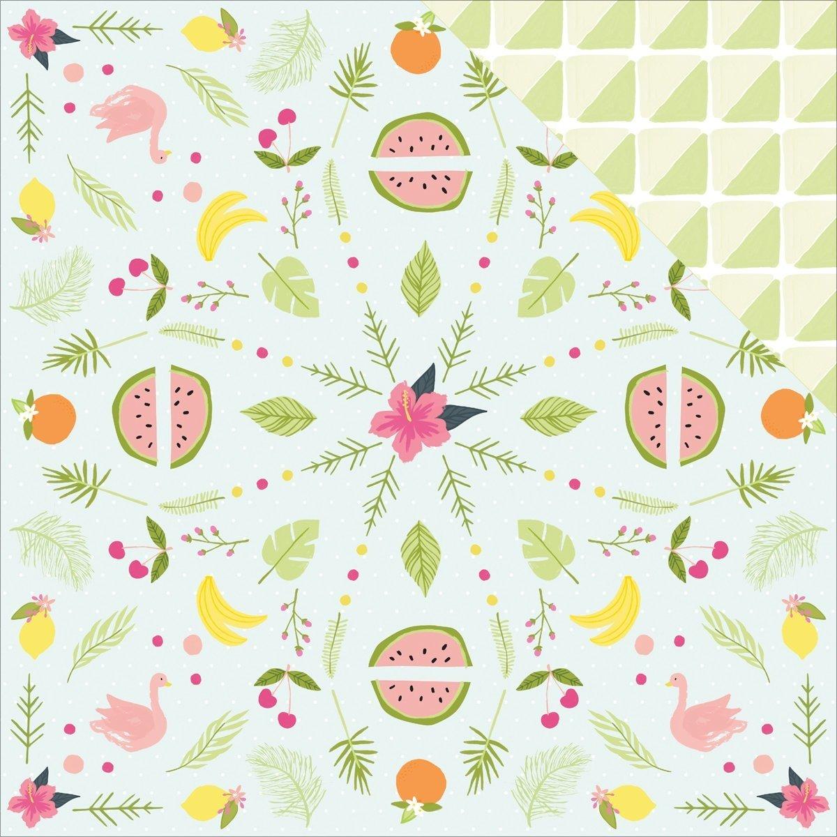 American Crafts Dear Lizzy Happy Place Doppelseitig tonkartons 12 Zoll x 12-inch-Tropical Tango (25 Stück) B01DIKUR6K | Exquisite Handwerkskunst
