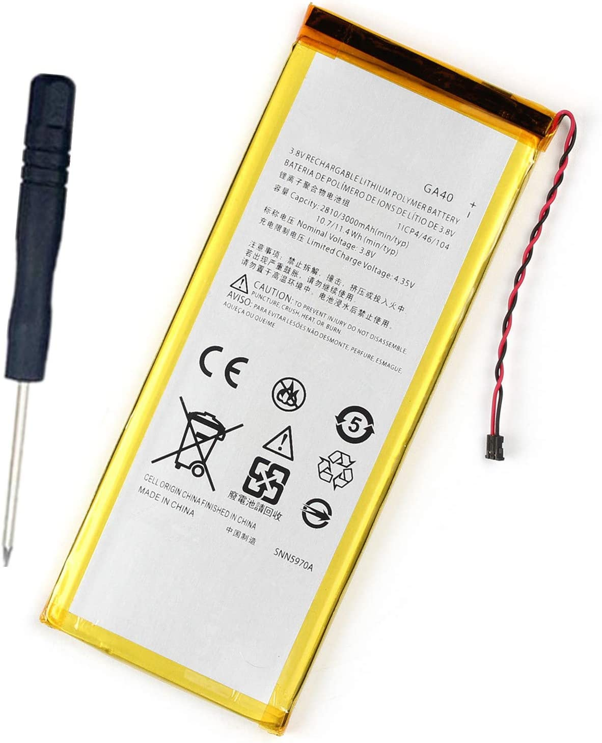 XT1622 XT1644 XT1642 XT1641 G4 Plus Bateria para Motorola Moto G4 // GA40