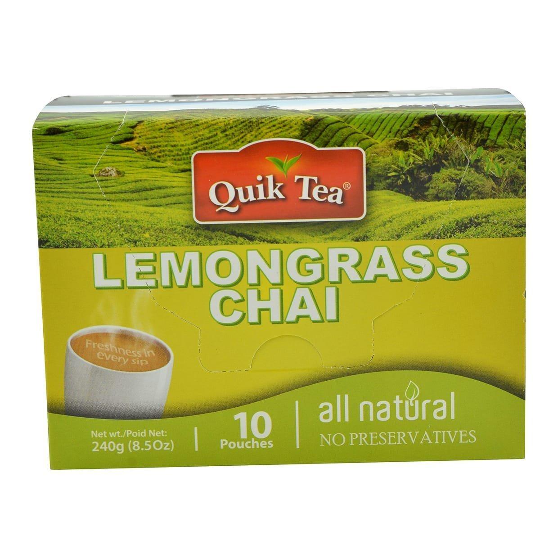 Quik Tea Lemongrass Tea 10 Pouches Made from Assam Teas All Natural No Preservatives (240 g / 8.5 oz) by Quik Tea