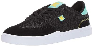 DC Men s VESTREY S SE Skate Shoe Black Turquoise 6 ... cad0ab4386