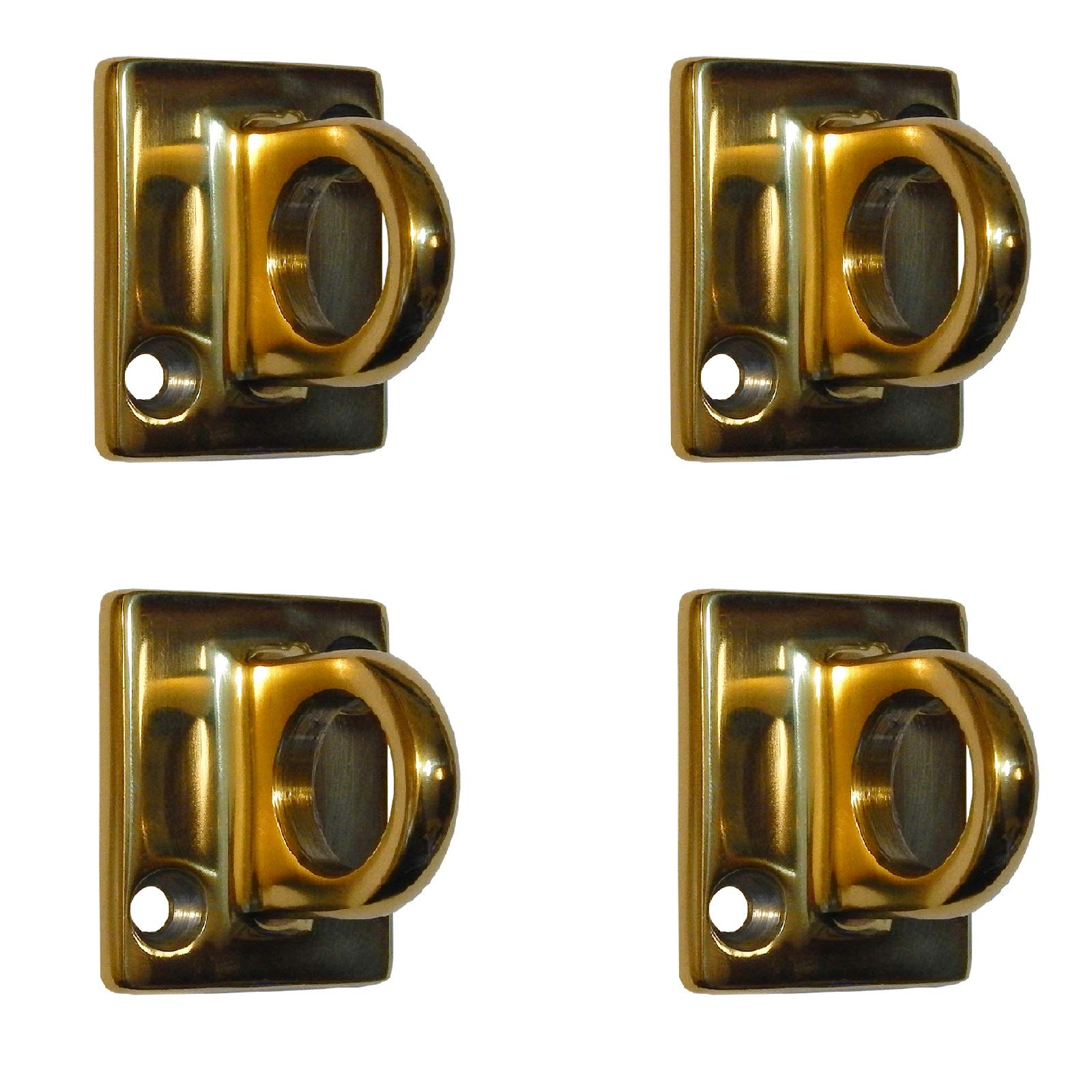 Rope Stanchion Decorative Stainless Steel Wall Plate Holder, CROWD CONTROL CENTER (4 pcs Gold)