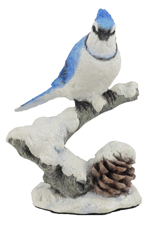 Desconocido Figura Decorativa de Ramas de Nieve, diseño de pájaros de Jay Azul, 11,9 cm