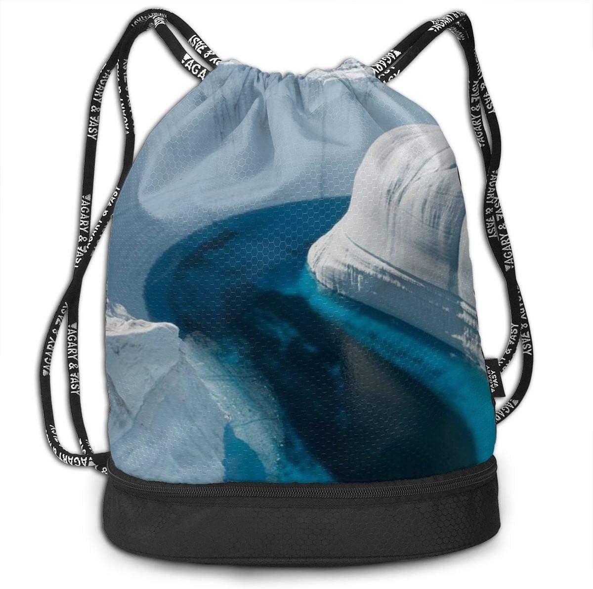 GymSack Drawstring Bag Sackpack Ice Canyon Sport Cinch Pack Simple Bundle Pocke Backpack For Men Women