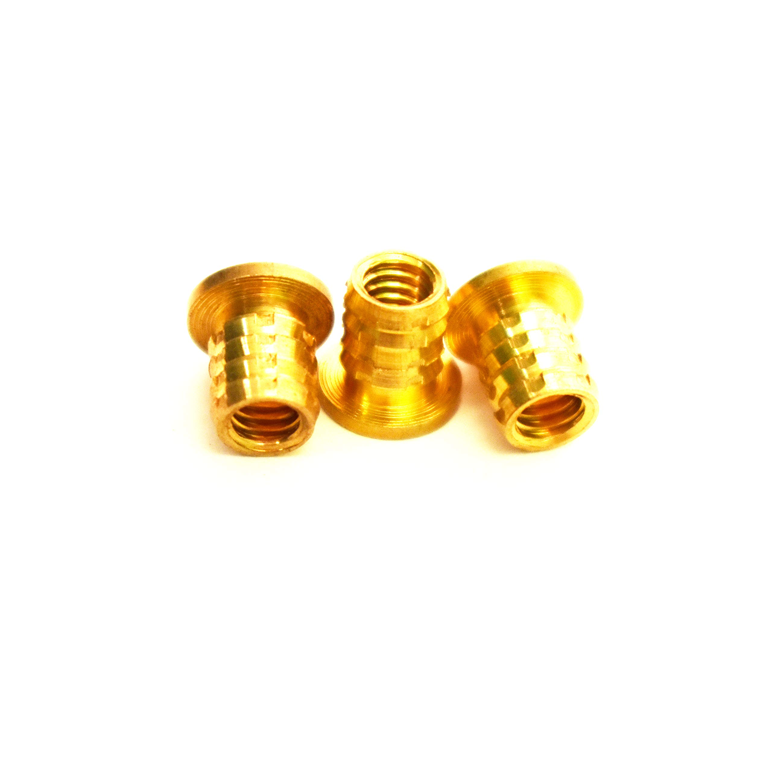[ J&J Products ] 8-32 Brass Insert 50pcs, 8mm OD, 8 mm Length, Female 8-32 Thread, Press Fitting or Heat Sink or Injection Molding Type, 50 pcs by J & J Products
