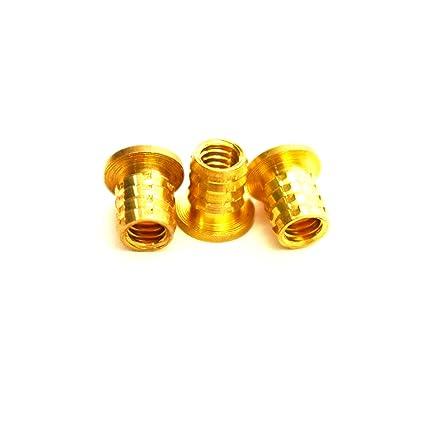 5 mm OD J/&J Products 5.7 mm Length M3 Brass Insert 20pcs Female M3 Thread Heat Sink or Injection Molding Insert,20pcs