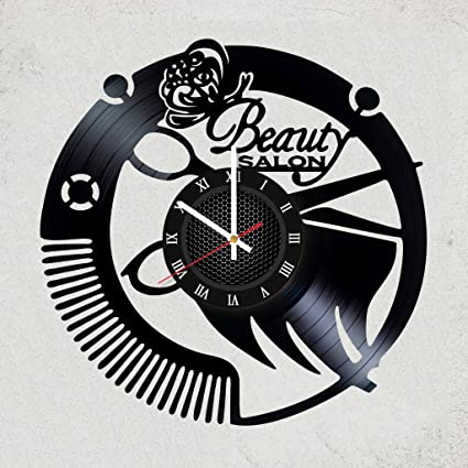 Home decor USA Beauty Salon Vinyl Wall Cclock - Gift ideas for sisterbrother & Amazon.com: Home decor USA Beauty Salon Vinyl Wall Cclock - Gift ...