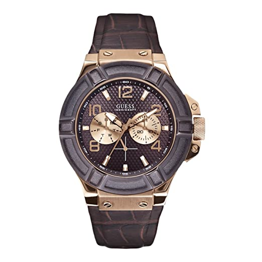 Image Unavailable. Image not available for. Colour  Guess Analog Brown Dial  Men s Watch - W0040G3 50f204232d8