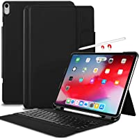 IVSO iPad Pro 12.9 Case with Wireless Keyboard Stand for iPad Pro 12.9 (Black)