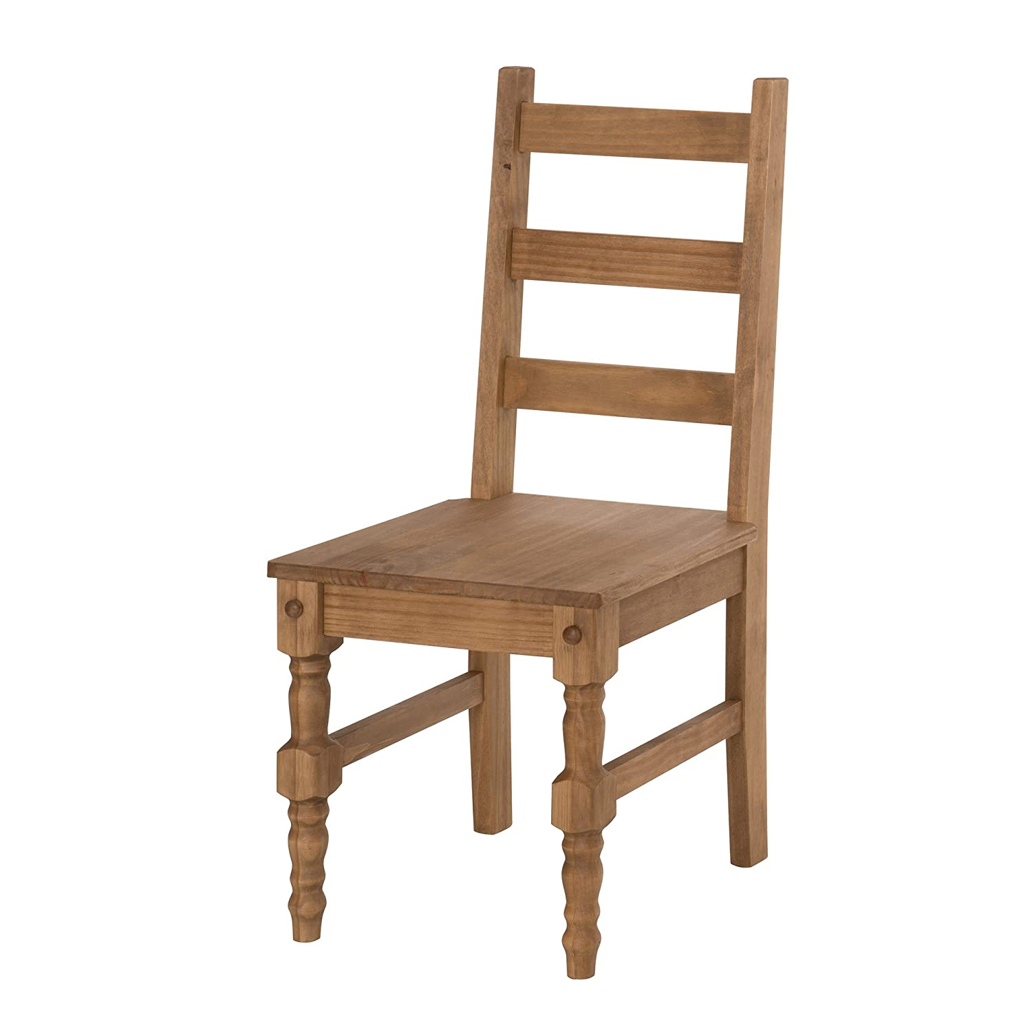 Wood Manhattan Comfort Jay Collection Traditional Wooden Dining Chair with Trim Finish, Green Wood
