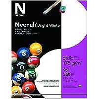 "Neenah Premium Cardstock, 8.5"" x 11"", 65 lb/176 gsm, Bright White, 250 Sheets (91901)"