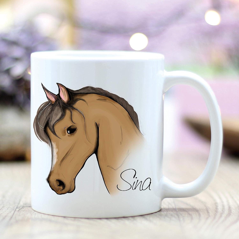 Taza de café con diseño de caballo y caballo, ideal como regalo para tu amigo, amante de la familia