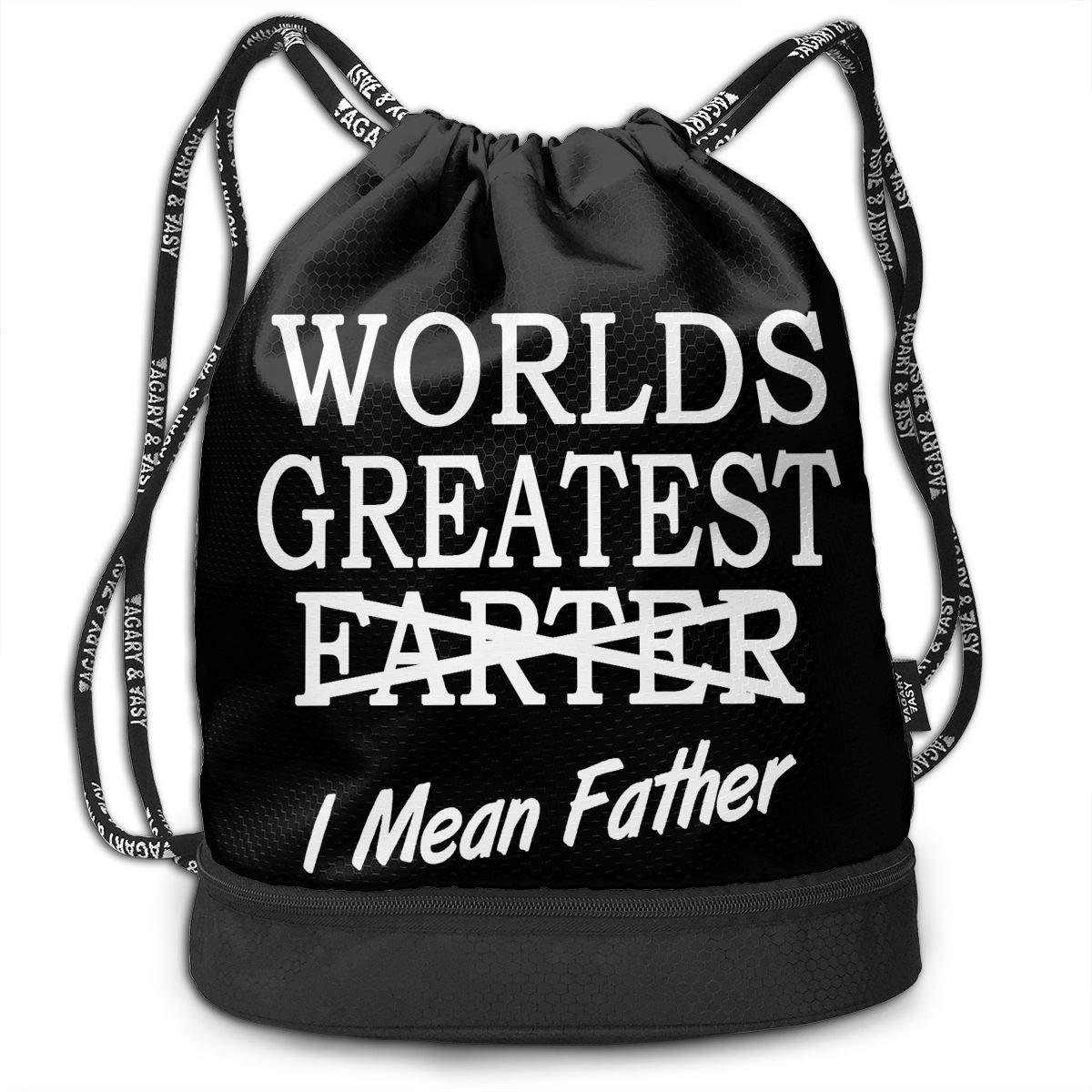 HFTIDBC Worlds Greatest Farter I Mean Father String バックパック シンチバッグ   B07KPVJW74