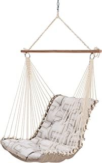 product image for Hatteras Hammocks Resonate Dune Sunbrella Tufted Single Swing, 350 LB Weight Capacity, Handcrafted in The USA, Perfect for Indoor or Outdoor Use
