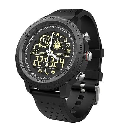 Reloj inteligente deportivo digital para hombres y niños, resistente al agua, Bluetooth, reloj inteligente con calorías de caminar, cámara remota, ...