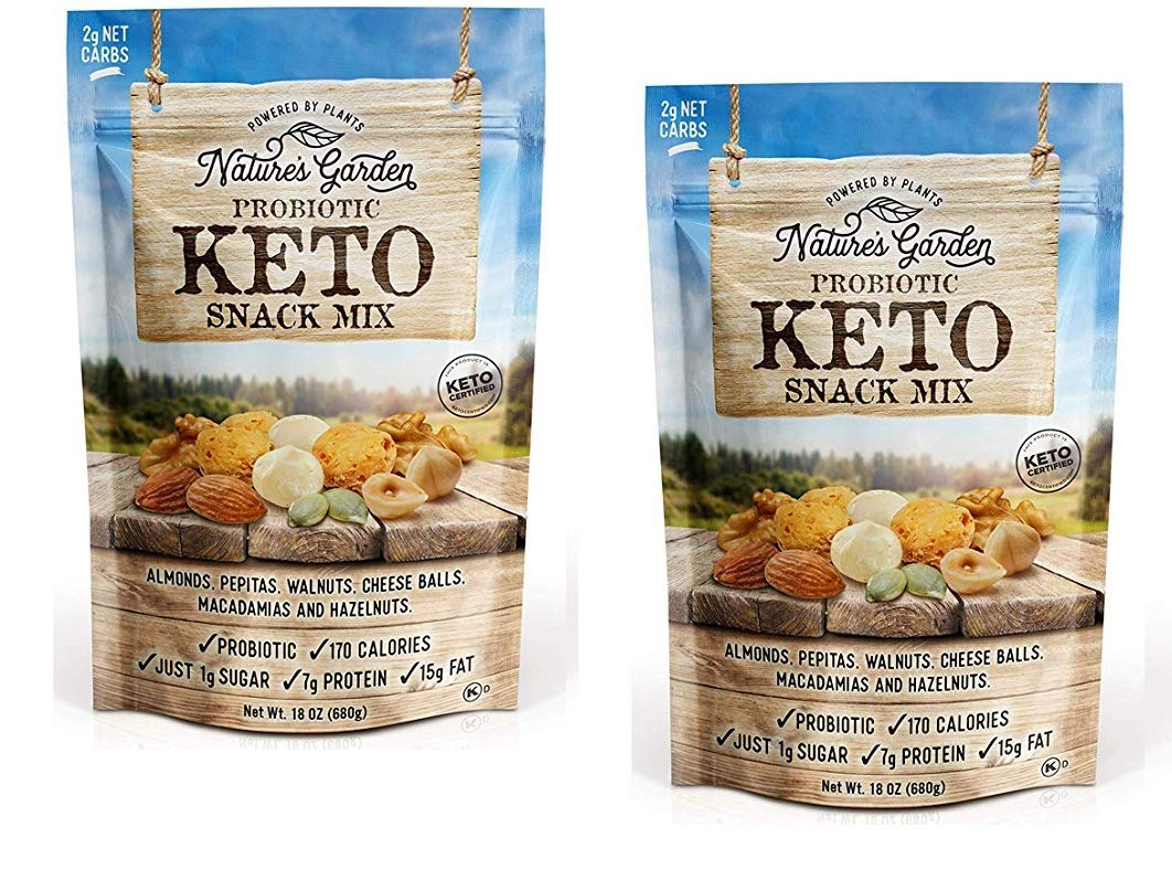 Nature's Garden Probiotic Keto Trail Mix ~ pack of 2 bags
