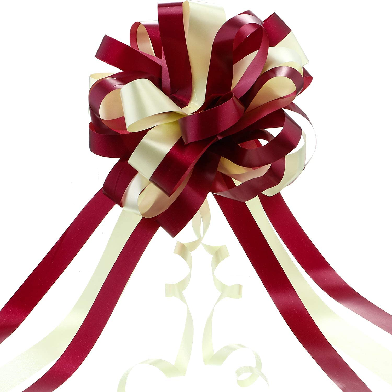 Boao 20 Lazos Grandes de la Cinta del Arco del Tirón del Coche de los Colores Brillantes Grandes de 20 Pedazos para Su Decoración del Regalo, 20 cm