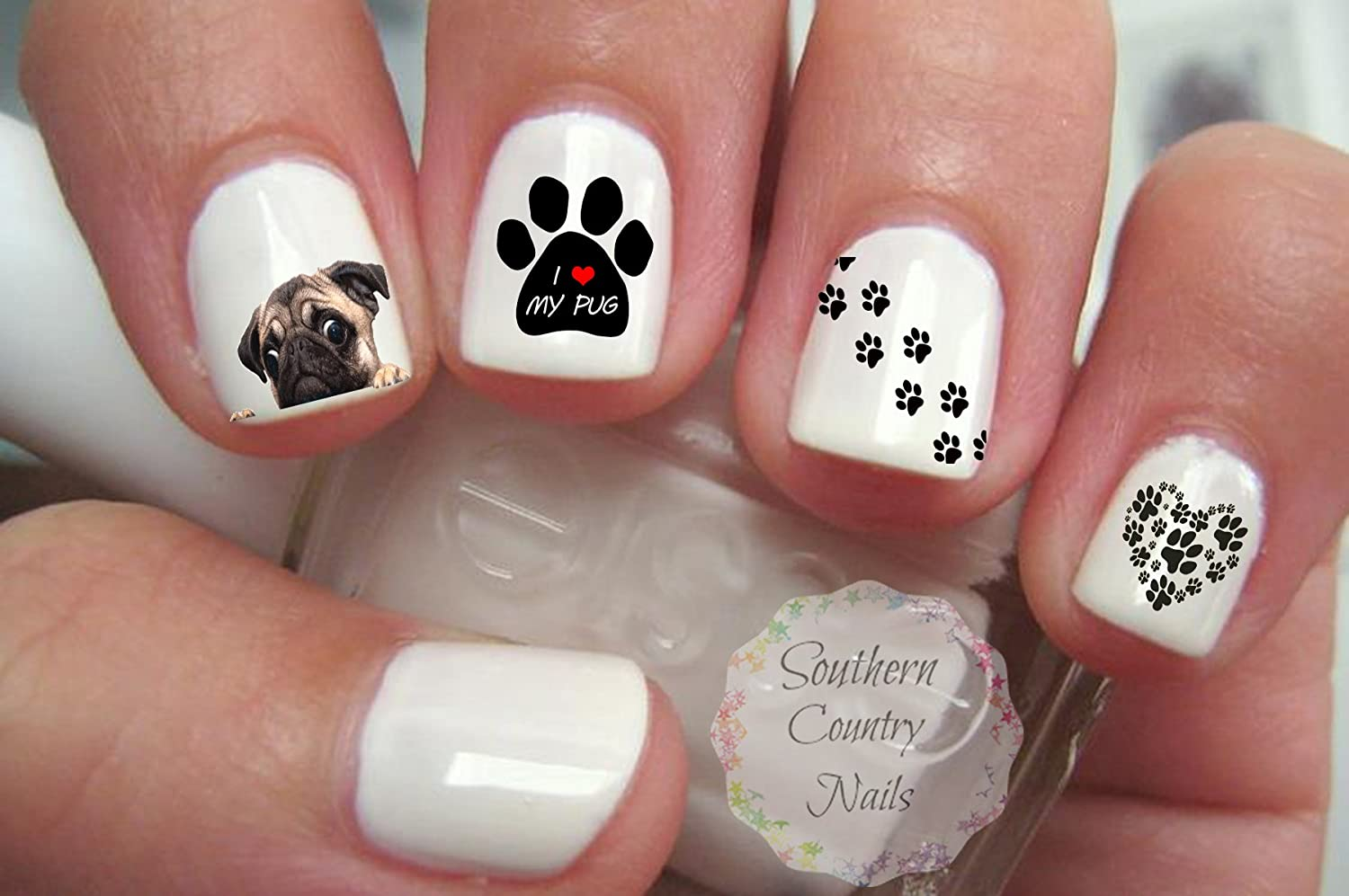 Amazon.com : Pug Nail Art Decals : Beauty