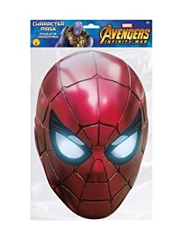 sap-media Spider-Man Iron Spider Marvel Infinity War Mask Single 2D Card Party Face Mask: Amazon.es: Juguetes y juegos