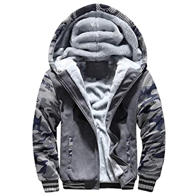 f2dc4d93c Amazon.com: Men Coats And Jackets Winter Sale Warm Fleece Hood Zipper  Sweater Outwear Sweatshirts For Men By Orangeskycn: Clothing