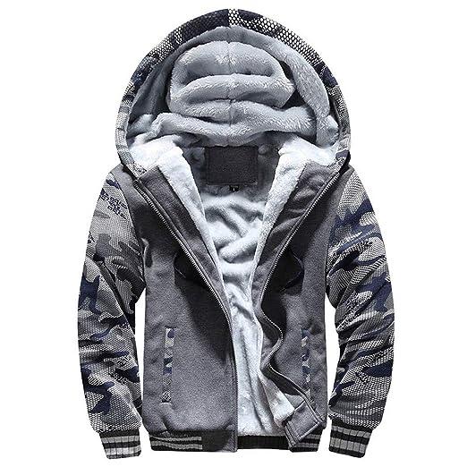 d563b6371 Men Coats And Jackets Winter Sale Warm Fleece Hood Zipper Sweater Outwear  Sweatshirts For Men By Orangeskycn