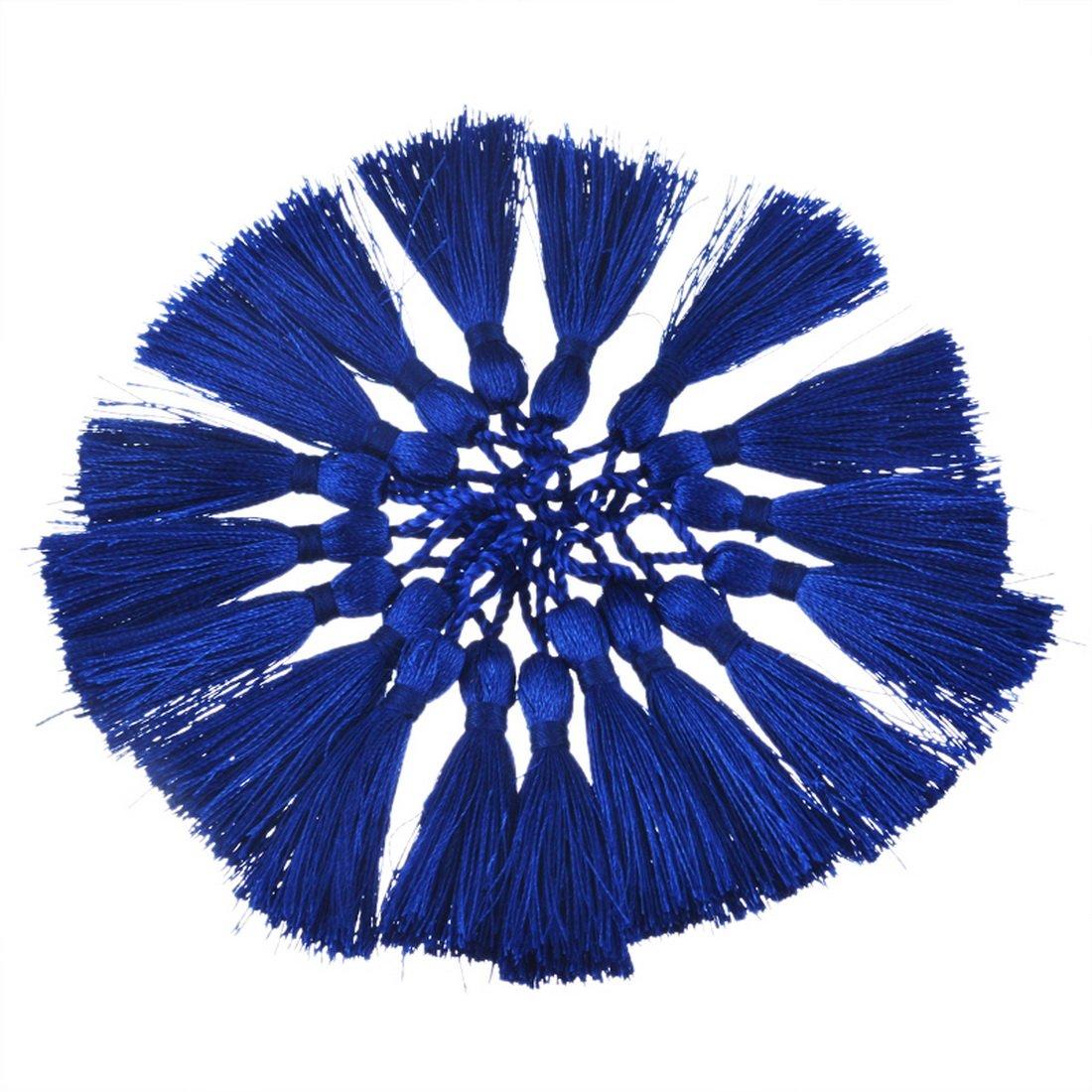 Souarts 手芸用品 DIY材料 ハンドメイド タッセル アクセサリー パーツ 50本入り 4cm ブルー   B01HEIZ8HA