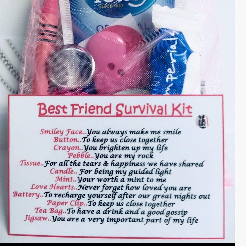 Best Friend BFF Unique Keepsake Friend Gift Thank You Just Because Bagsoflove Gifts Best Friend Survival Kit Birthday Friendship Gift