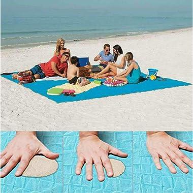 Lopie Sand Proof Blanket Sand Free Lightweight Compact Large Beach Towel Mat Fast Dry Waterproof Easy Clean Ultra Portable Blanket