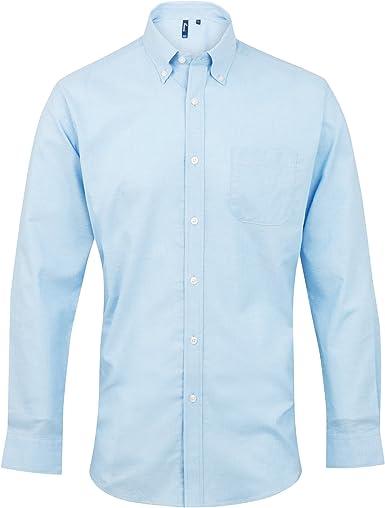 Premier - Camisa de Manga Larga Modelo Oxford Signature para Trabajar Hombre Caballero- Trabajo/Fiesta/Verano: Amazon.es: Ropa y accesorios