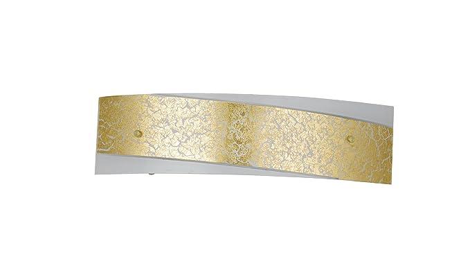 Fan europe paris oro bianco applique con decoro centrale e w