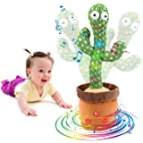 [Update Adjustable Volume Control] Dancing Cactus Toy Talking Cactus Toy for Babies Repeats What You Say Singing Mimicking Re
