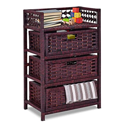 Giantex 3 Drawer Storage Organizer End Table Side Cabinet Nightstand For  Bedroom, Office U0026
