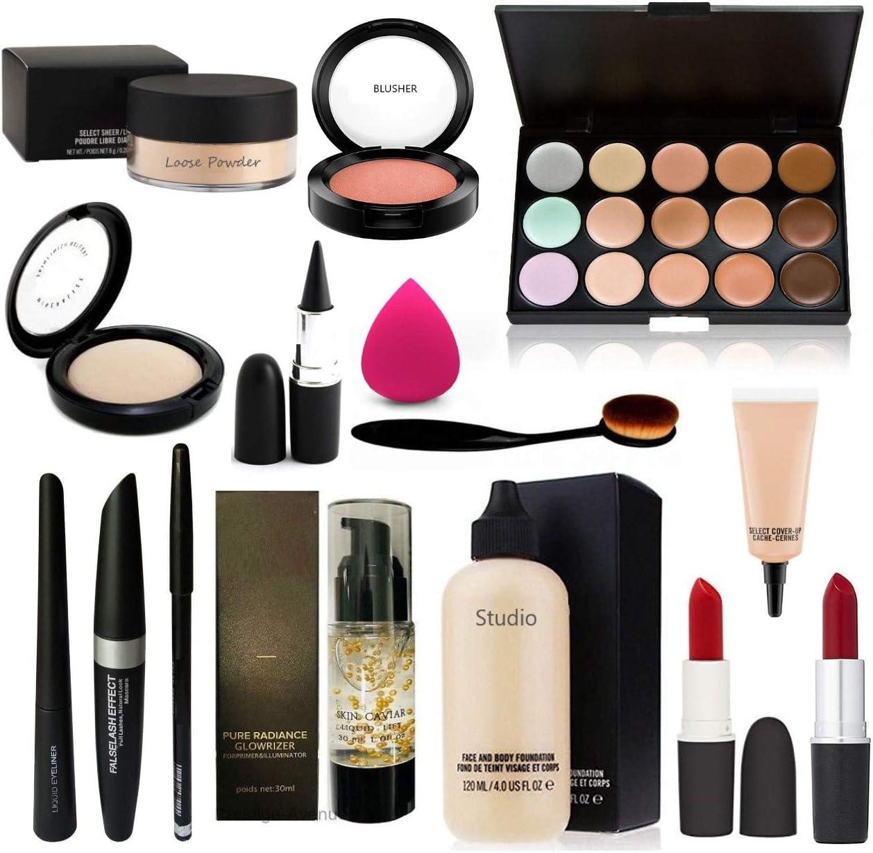 Mac. 15 palillos de maquillaje Loose Powder, Compact, Blusher ...