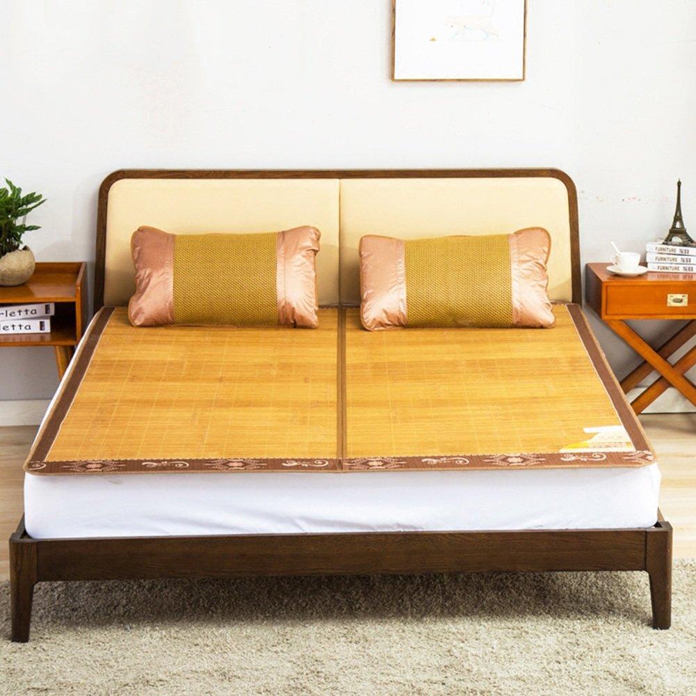 WENZHE Bambus Matratzen Sommer-Schlafmatten Strohmatte Teppiche Doppelsitze Zusammenklappbar Zuhause Schlafzimmer Multifunktion, 1,5/1,8 M