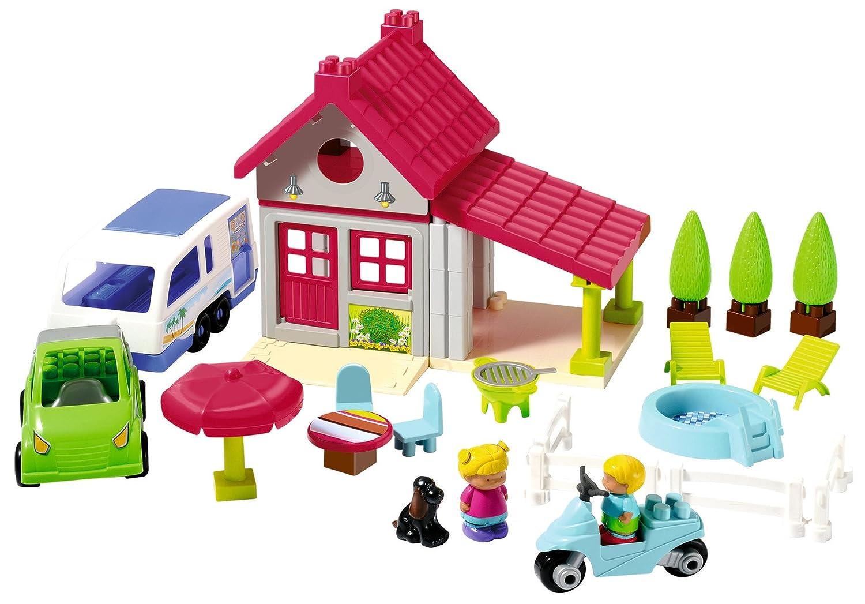 ecoiffier 3096 jeu de construction maison de vacances abrick amazonfr jeux et jouets - Jeu De Construction De Maison Gratuit
