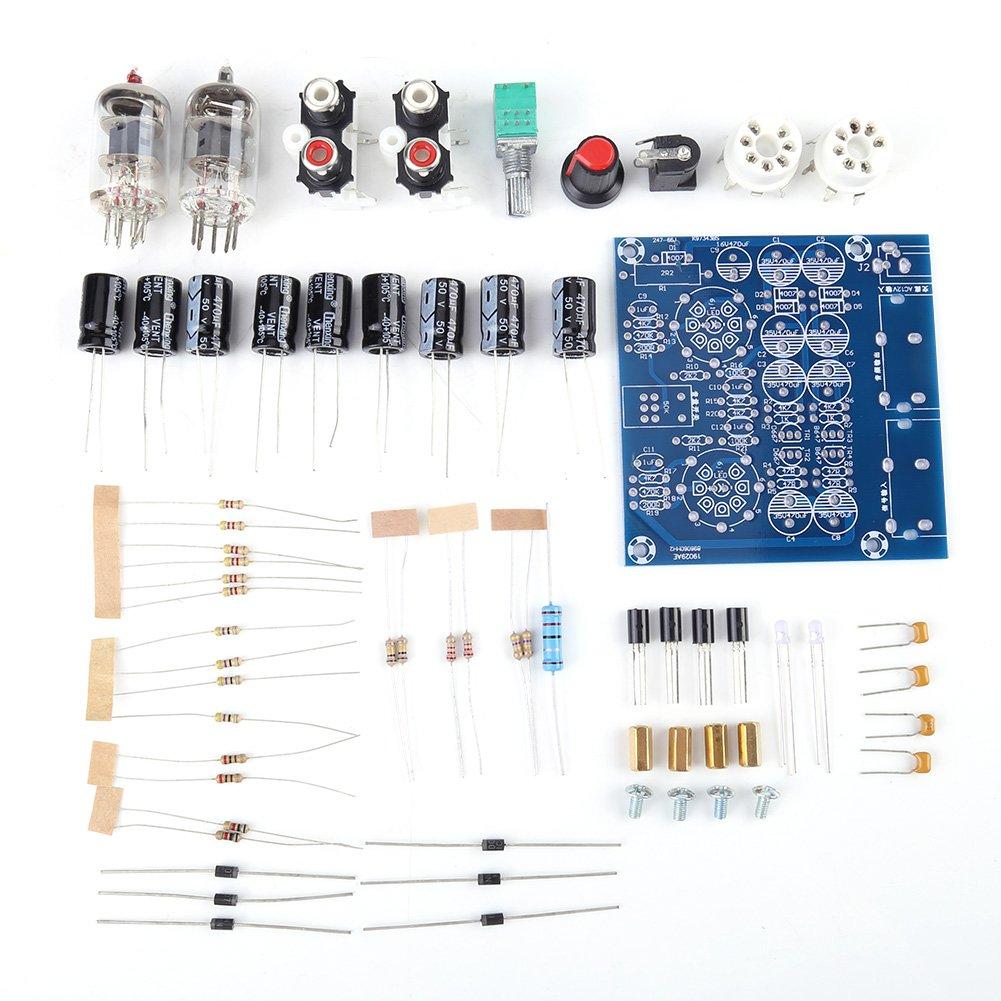 6J1 Válvula de Tubo de Electrones de Vacío Tablero de Preamplificador Junta de Auriculares Amplificador Hifi Estéreo